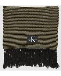Calvin Klein Extra Long Scarf - Green