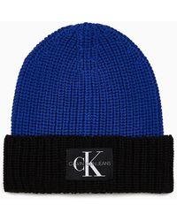 Calvin Klein Gebreide Muts - Blauw