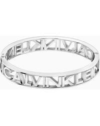 Calvin Klein Brazalete - Name - Metálico