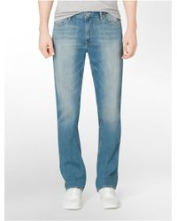 CALVIN KLEIN 205W39NYC - Jeans Slim Straight Leg Silver Bullet Light Wash Jeans - Lyst