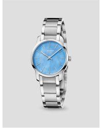 CALVIN KLEIN 205W39NYC - City Mother Of Pearl Bracelet Watch - Lyst