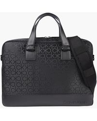 Calvin Klein Logo Laptop Bag - Black