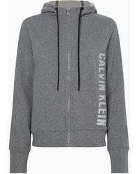 Calvin Klein Sudadera con capucha y cremallera - Gris