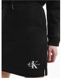 Calvin Klein Organic Cotton Mini Skirt - Black