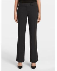 Calvin Klein Straight Charcoal Suit Pants - Gray