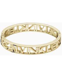 Calvin Klein Armreif - Name - Gelb