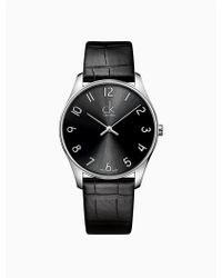 CALVIN KLEIN 205W39NYC - Classic Leather Watch - Lyst