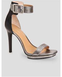 CALVIN KLEIN 205W39NYC - Vable Metallic Leather Sandal - Lyst