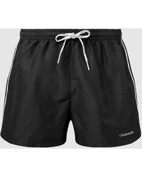 Calvin Klein - Short de bain court avec cordon de serrage - Lyst