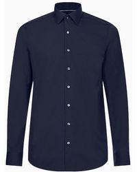 Calvin Klein Fitted Net Overhemd - Blauw