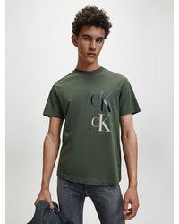 Calvin Klein - T-shirt Van Gerecycled Katoen - Lyst