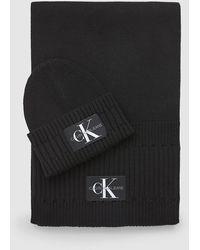 Calvin Klein Muts En Sjaal Cadeauset - Zwart
