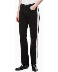 Calvin Klein High Rise Straight Taped Jeans - Zwart