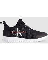 Calvin Klein Mesh Slip-on Sneakers - Zwart