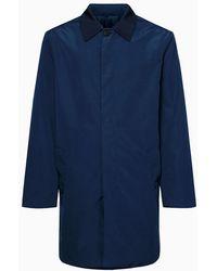 Calvin Klein Compact Twill Mac Jas - Blauw
