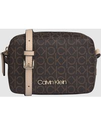 Calvin Klein Crossbody Bag mit Logo - Braun