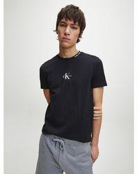 Calvin Klein Korte joggingbroek Met Logo Op Zijkant - Grijs