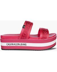 Calvin Klein Plateau-Wedges - Mehrfarbig