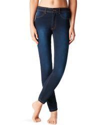 e5ea91efc Mango Crop Skinny Isa Jeans in White - Lyst