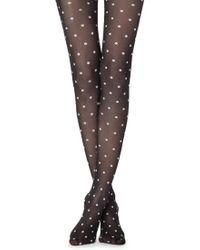 Calzedonia Polka Dots Tights - Black