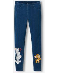 Calzedonia Girls Warner Bros. Jean Leggings Girl Blue Size 3-4