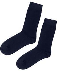 c9bfc666fba5 Lyst - Old Navy Striped Go-warm Crew Socks in Blue for Men