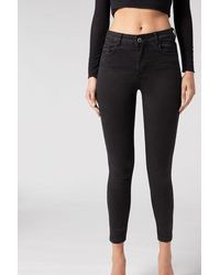 Calzedonia Sexy-slim-fit Lightweight Jeans - Black