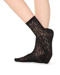 Calzedonia - Openwork Cotton Socks - Lyst