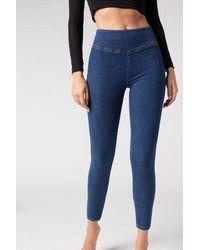 Calzedonia Leggings Jeans Skinny - Blue