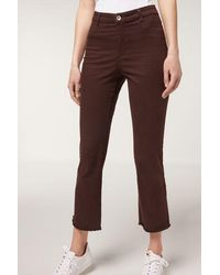 Calzedonia Flared Cropped Jeans - Brown