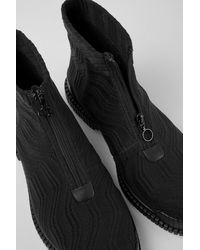 Camper Schwarzer stiefel mit Reißverschluss