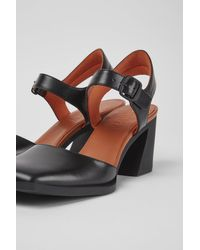 Camper Black Leather Semi-open Shoes