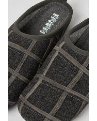 Camper Zapatillas de casa de lana gris oscuro