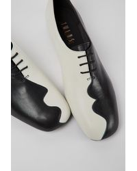 Camper Black And White Leather Shoes