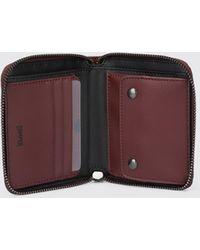 Camper 100% Leather Wallet. - Purple