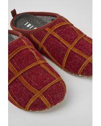 Camper Bordeaux Wollen Slippers - Rood