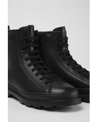Camper Black Medium Lace Boot
