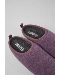 Camper Paarse Wollen Slippers