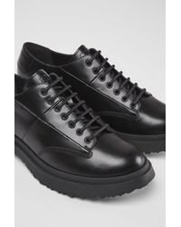 Camper Black Leather Lace-up Shoes