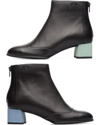 Camper Twins Ankle Boots - Black