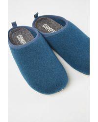 Camper Blauer slipper aus Wolle - Grün