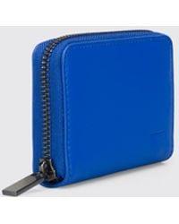 Camper 100% Leather Wallet. - Blue