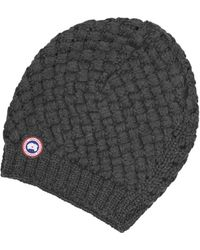Canada Goose montebello parka sale fake - Canada goose Merino Wool Beanie in Blue for Men (Ink Blue) | Lyst