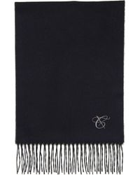 Canali - Gray And Blue Silk-cashmere Reversible Scarf - Lyst