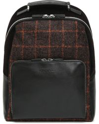 2cbaafa196 The Bridge. Marrone Leather Men's Backpack. $745. FORZIERI · Canali - Black Leather  Backpack With Dark Brown Check Fabric Inserts - Lyst