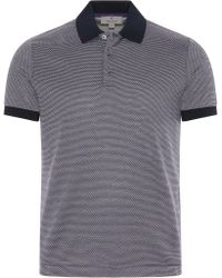Canali - Purple Cotton Jersey Polo Shirt With Micro-motif - Lyst