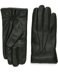 Canali - Dark Green Nappa Leather Gloves - Lyst