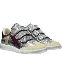 Isabel Marant Silver Sneakers Beth - Metallic