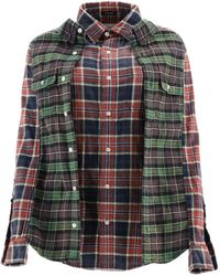 R13 Double Chequered Shirt - Multicolour