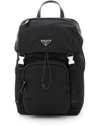 Prada Re-nylon Technical Backpack - Black